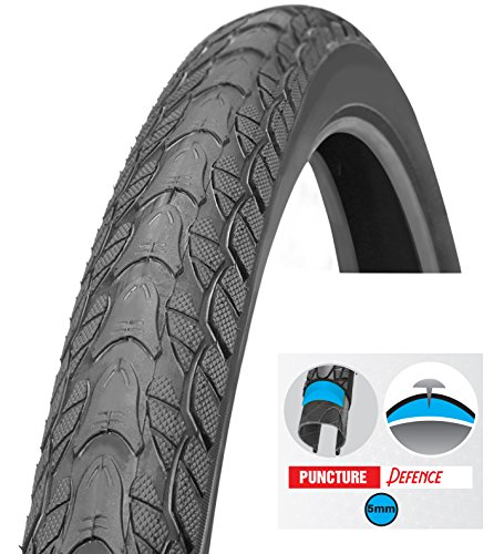 Slick Tires Bicycle (Biria Tire Bicycle, street 26 X 2.0 Inch Puncture Resistant 5mm, Puncture Guard, thorn resistant, Comfortable ride by, hybrid bike tread tire, slick pattern, By)