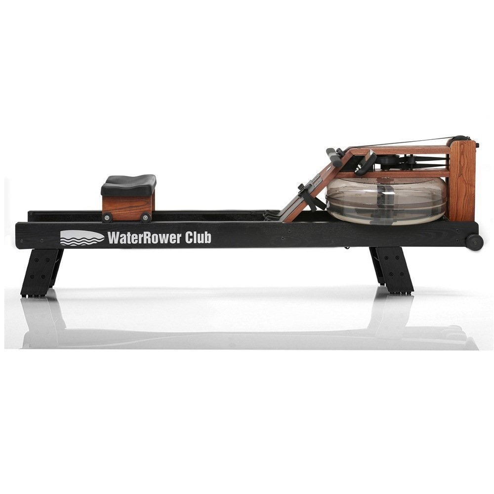 WaterRower Club Rowing Machine w/ S4 Monitor & Hi Rise Attachment