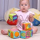 xlp おもちゃ ベビー 知育おもちゃ 積み木 布製 布製キューブ 子供向け ギフト 音が鳴る