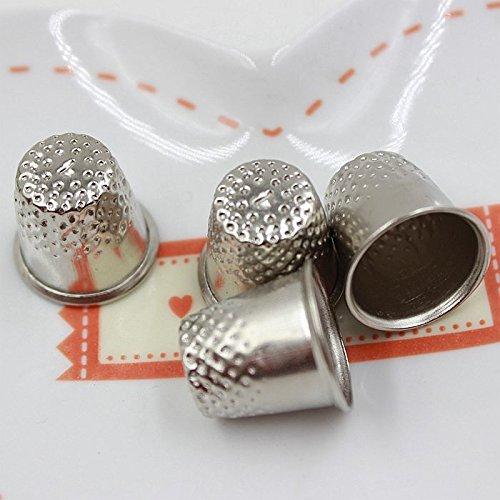 10pcs 18mm Finger Thimbles Metal Shield Sewing Grip Protector Pin Needle Shield