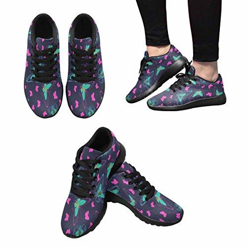Scarpe Da Corsa Trail Running Da Donna Jogging Leggero Sportivo Da Passeggio Sneaker Da Ginnastica Farfalle Multi 1