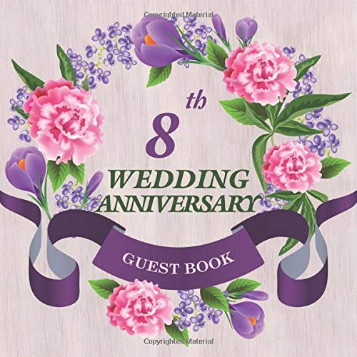 Amazon.com: 10th Wedding Anniversary Guest Book: Celebrating