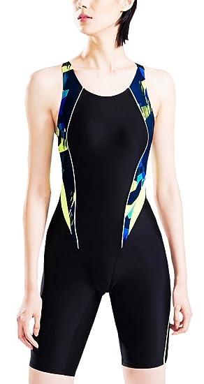 46be1972466 Vocni(ワクニー) フィットネス水着 レディース 競泳水着 ワンピース 大きいサイズ 女性 レディース 練習用