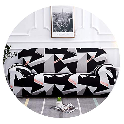 Meet- fashion Black White Grey 1/2/3/4 Seater Sofa Cover Tight wrap All-Inclusive sectional Elastic seat Sofa Covers Couch Covering Slipcovers,09,AB 90-140cm (And Kelowna Bed Bath Beyond)