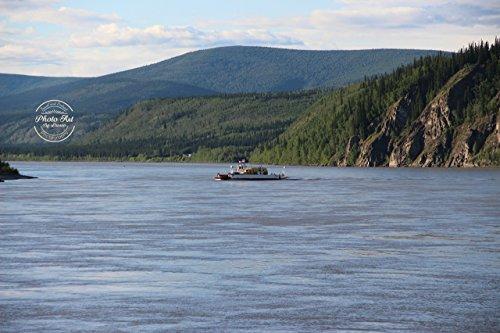 #152 Dawson City, Canada Ferry Signed Photo -