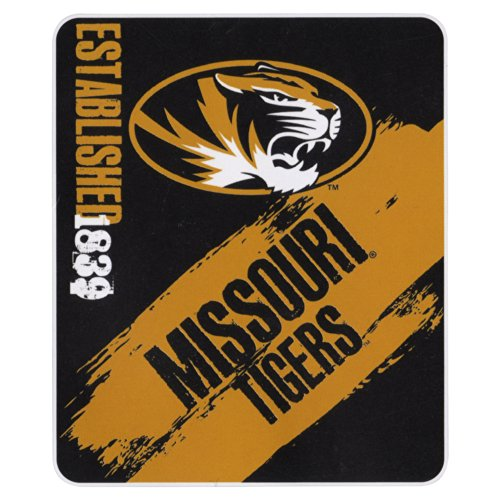 The Northwest Company NCAA Collegiate School Logo Fleece Blanket (Missouri Tigers, 50