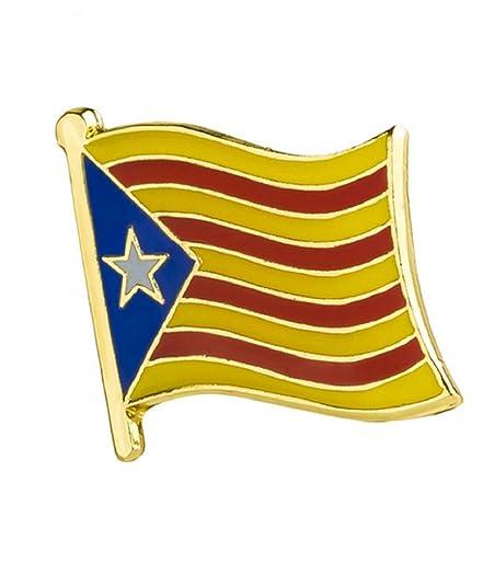 STRASS & PAILLETTES Pin catalán Broche Bandera cataluña ...