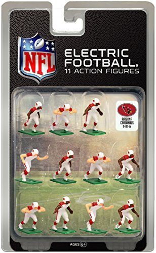 Arizona Cardinals White Uniform NFL Action Figure Set by Tudor Games