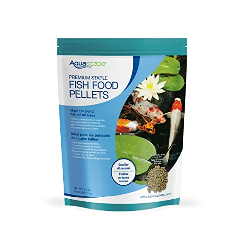 - Aquascape Premium Staple Pond and Koi Fish Food, Mixed Pellet Size
