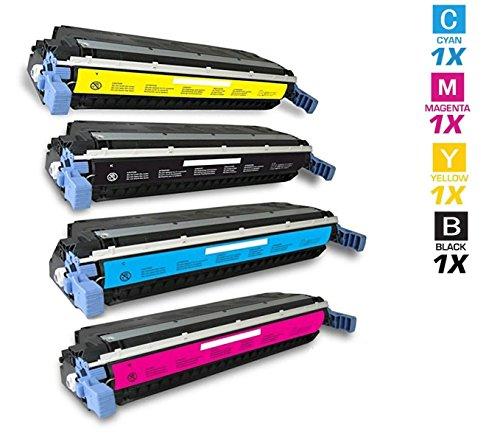 AZ Supplies © Re-Manufactured Replacement Toner Cartridges for HP 645A HP 5500 4 Color Set (Black, Cyan, Magenta, Yellow) C9730A, C9731A, C9732A, C9733A for use in HP Color 5500, 5500DN, 5500DTN, 5500HDN, 5500N, 5550DN, 5550DTN, 5550HDN, 5550N Series Pri