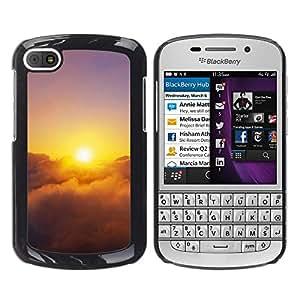 Paccase / SLIM PC / Aliminium Casa Carcasa Funda Case Cover - Sunset Beautiful Nature 28 - BlackBerry Q10