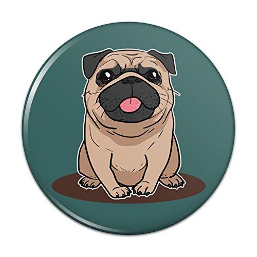 - Pug Sticking Out Tongue Pinback Button Pin Badge - 1