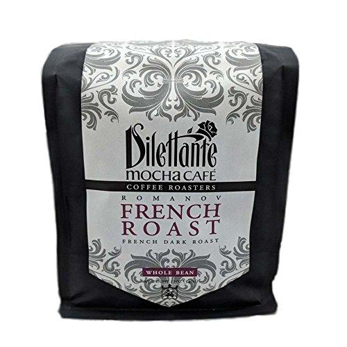 Fresh Roasted French Dark Roast Coffee Romanov Whole Bean 12 oz - Dilettante Espresso Beans