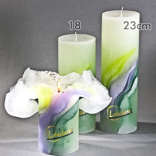Candela Lotus della Candela Art Green Lilla 18/cm