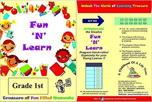 Buy Fun N Learn Worksheets 1st Grade 3 Months Bundled Package