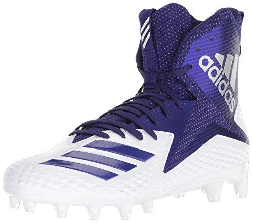 adidas Men's Freak X Carbon Mid Football Shoe, White Collegiate Purple, 10 M US