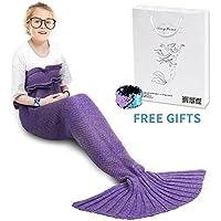 AmyHomie Mermaid Tail Blanket, Crochet Knitting Mermaid...