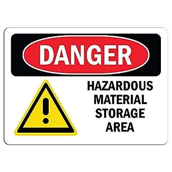 Aluminium Sign-Danger Hazard Area-Metal-Door Notice Business Office Shop Safety