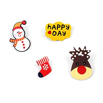 e79d42c8cb1ef MSYOU 1 Set Christmas Brooches Acrylic Cute Brooch Novelty Pin Badge  Jewelry Accessories for Coat Lapel