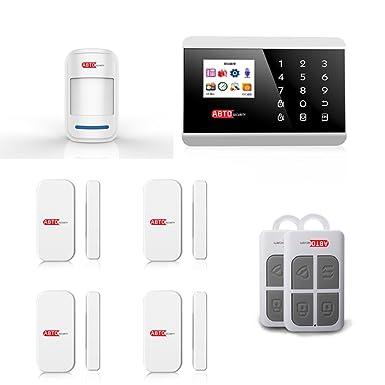 SZABTO Sistema de alarma GSM inalámbrico PSTN para la seguridad del hogar (B)