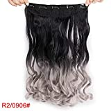 "Synthetic Curly Hair 24"" 120g 5 Clips in One Piece High Temperature Fiber"