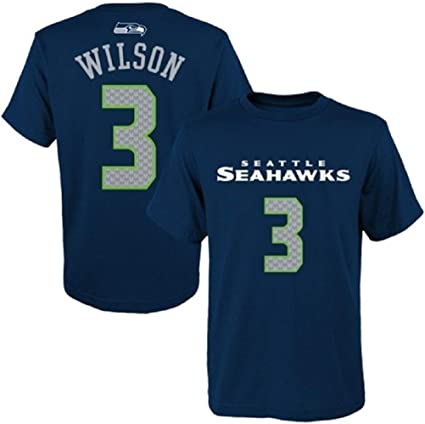 Amazon.com : Outerstuff Russell Wilson Seattle Seahawks Youth Navy ...