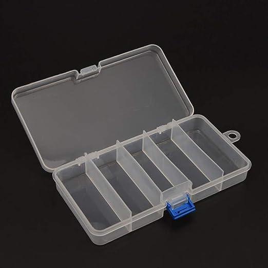 ToDIDAF - Caja multifuncional para aparejos de pesca, 5 compartimentos, plástico, caja de almacenamiento para cebos de pesca, caja de aparejos extraíble: Amazon.es: Hogar