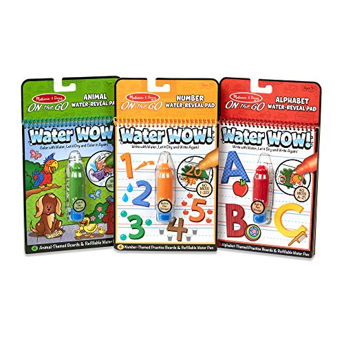 : Melissa & Doug On the Go Water Wow! 3-Pack (The Original Reusable Coloring Books - Animals, Alphabet, Numbers - Great Gift for Girls and Boys - Best for 3, 4, and 5 Year Olds)