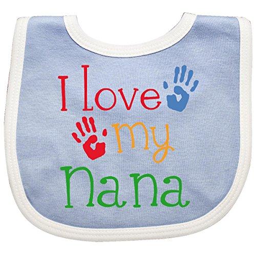 Inktastic - I Love My Nana Baby Bib Blue/White
