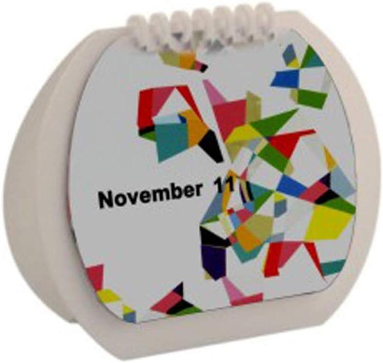 Calendario Escritorio Calendario 2020 de Visita del Calendario del Calendario de Escritorio Planificador Bloc de Notas Tabla Creativa Calendario Planificador mensual (Color : White)