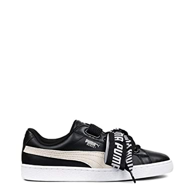 e171e3126434f Amazon.com  Puma Basket Women Black Sneakers  Shoes