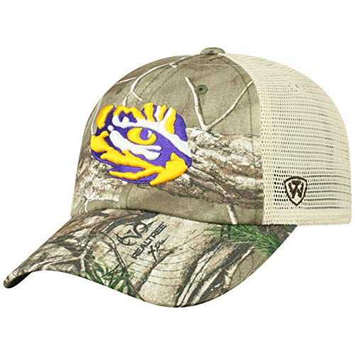 d809e05e6c051 LSU Tigers Camouflage Caps. NCAA LSU Tigers Men s Camo Stock Adjustable  Mesh Icon Hat ...