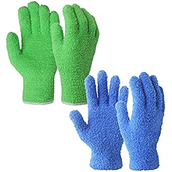 Master Caster CleanGreen Microfiber Cleaning and Dusting Gloves Pair 18040 Hunting