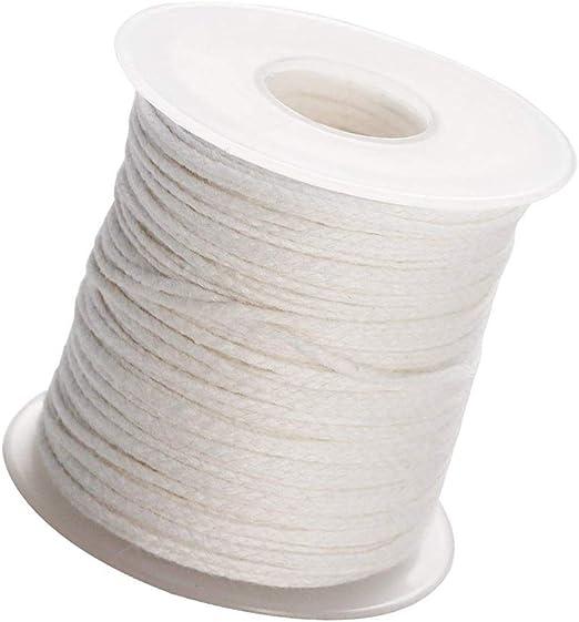 Rollo de mecha trenzada de algodón de 200 pies para hacer velas y ...