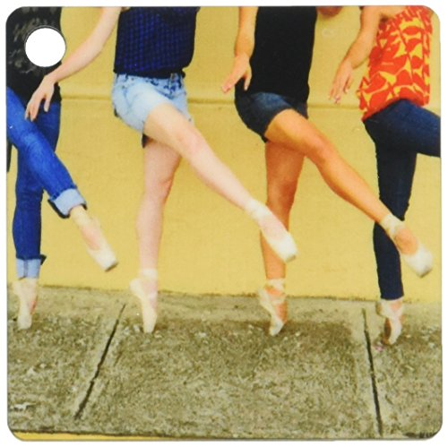 3dRose Kike Calvo Dance – Photo Professional ballerinas dressed up with street clothing but wearing ballet shoes – set…
