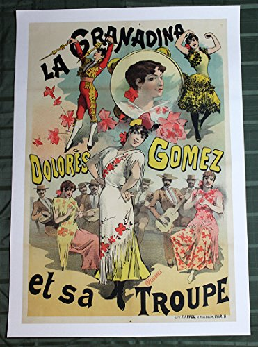 "Dolores Gomez La Granadina by Alfred Choubrac (France, 1900's) 32.75"" x 47.2"" Advertising Poster"