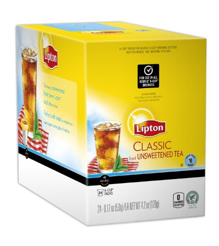 - Lipton K-Cup Classic Unsweet Iced Tea, 96 Count