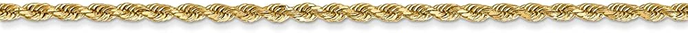 14k Yellow Gold 1.75mm Rope Chain Anklet Fine Jewelry Ideal Gifts For Women