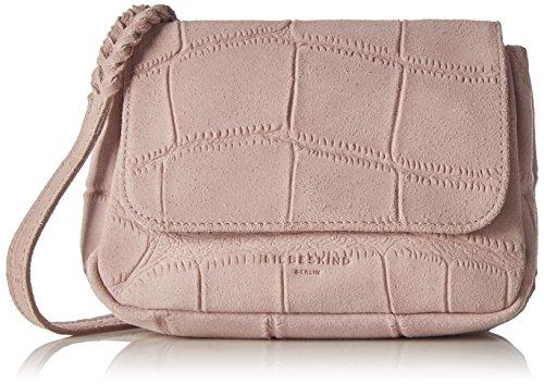 Liebeskind Berlin Kawai alliga - Bolso cruzados de Piel para mujer rosa Pink (macaque pink 8260) 6x18x6 cm (B x H x T)