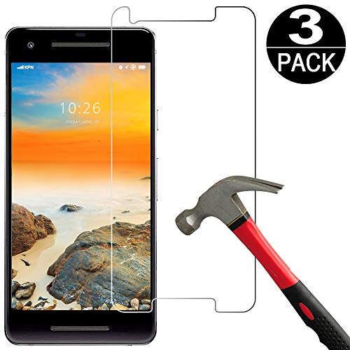 [3 Pack] Google Pixel 2 Screen Protector Tempered Glass [9H Hardness][Ultra Clear][Anti Scratch][Bubble Free] HD Clear Tempered Glass Screen-Protector Film for google pixel 2