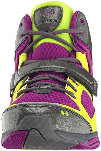 Ryka Cross Women's Tenacious Grey Wine Trainer Shoe wFF740xqPr