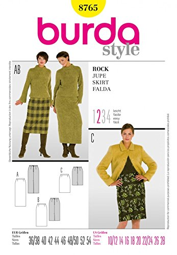 Burda Craft Sewing Pattern 8765 - Skirt Sizes: One Size: Amazon.co ...