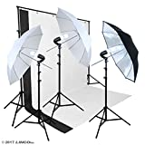 Linco Lincostore Photo Studio Lighting Umbrella Photography Backdrop Stand Kit Video Shooting Light AM121