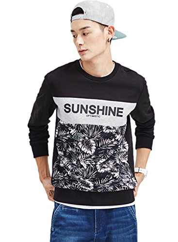 meters-bonwe-mens-round-neck-long-sleeve-leaves-printed-pullover-sweatshirt-black-xl