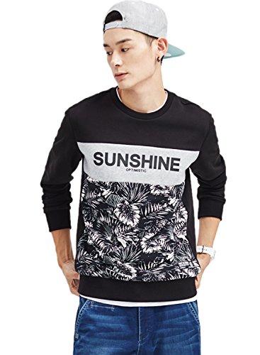 meters-bonwe-mens-round-neck-long-sleeve-leaves-printed-pullover-sweatshirt-black-xl