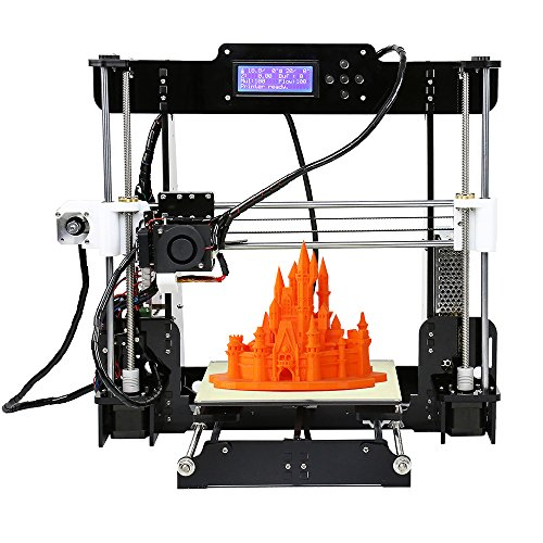 KKmoon Anet A8 Upgraded High Precision Desktop 3D Printer Reprap Prusa i3 DIY Kits Self Assembly Auto Self-leveling Acrylic Frame Printing Size 220220240mm with 8GB Memory Card 1 Roll of Filament KKmoon Printers