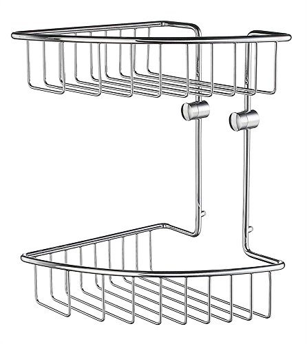 Smedbo Home Double Corner Soap Basket in Polished Chrome Finish - Smedbo Brass Soap Dispenser