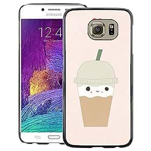 Red-Dwarf Colour Printing Ice Cream Coffee Heart Brown Cute - cáscara Funda Case Caso de plástico para Samsung Galaxy S6 SM-G920