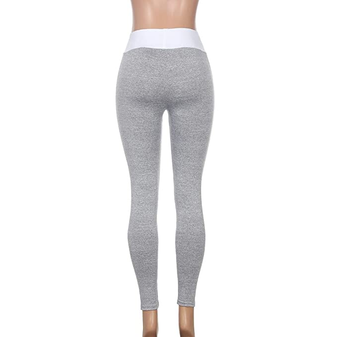 0204c55c3f04d Amazon.com: Minisoya Women Donut Printed Yoga Pants Workout Gym Casual  Pencil Leggings Fitness Sports Stretch Trouser (Gray, XL): Clothing