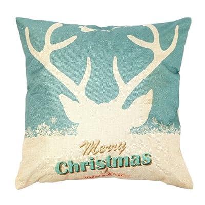 FairyTeller Vintage Christmas Sofa Bed Home Decor Throw Pillow Case Cushion Cover U6725